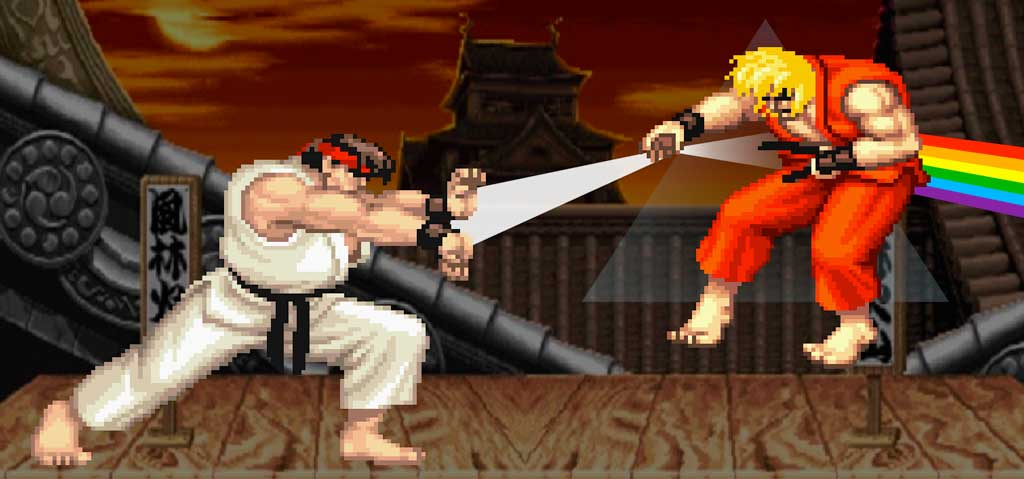 Street Fighter II Dark Side of The Moon Attack